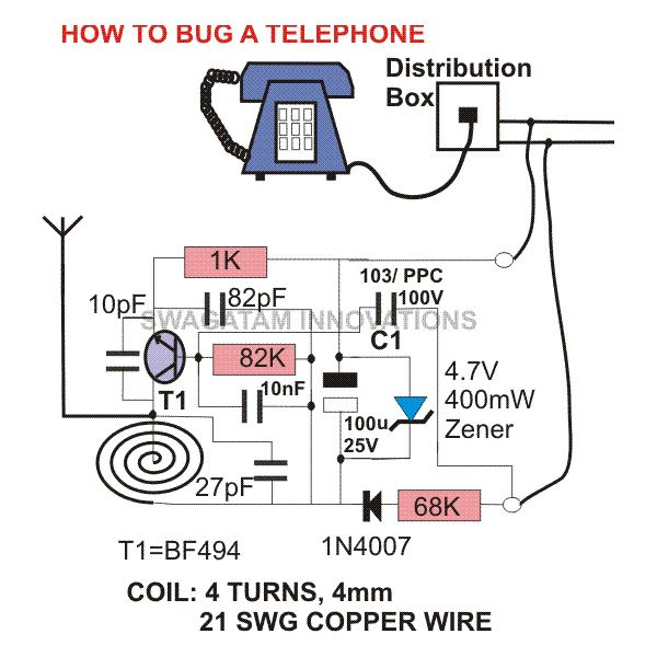 how to bug a telephone