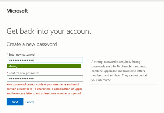 O365 password requirements